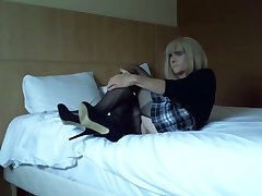 Crossdresser Faustine in Sissy Training
